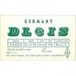 carte postale ancienne CARTE RADIO QSL. Germany 1972