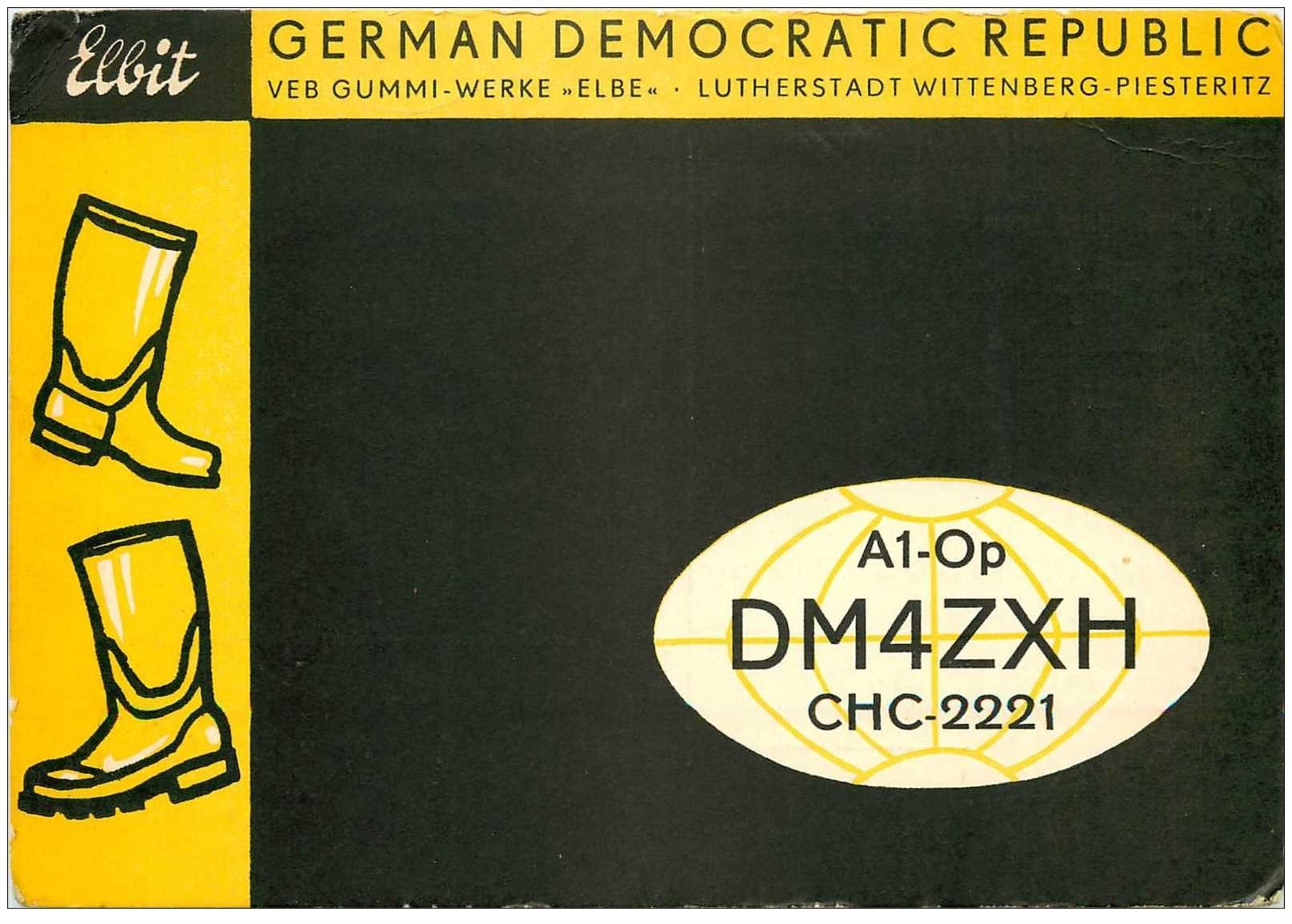 carte postale ancienne CARTE RADIO QSL. Germany 1972 German Democratic Republic