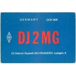 carte postale ancienne CARTE RADIO QSL. Germany 1977