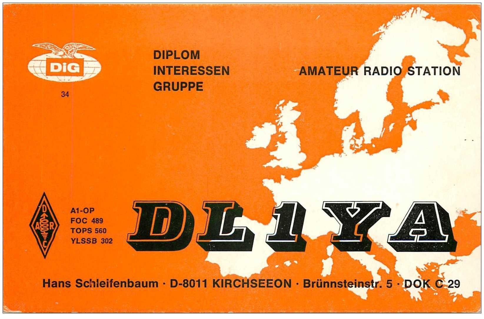 carte postale ancienne CARTE RADIO QSL. Kirchseeon Brünnsteinstr. 1973