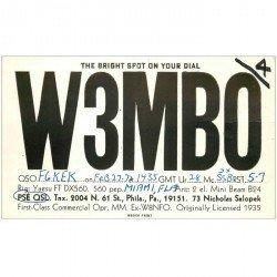 carte postale ancienne CARTE RADIO QSL. Miami 1974