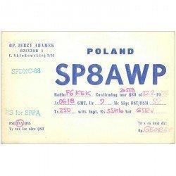 carte postale ancienne CARTE RADIO QSL. Poland 1972