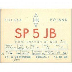 carte postale ancienne CARTE RADIO QSL. Poland 1972 POLSKA