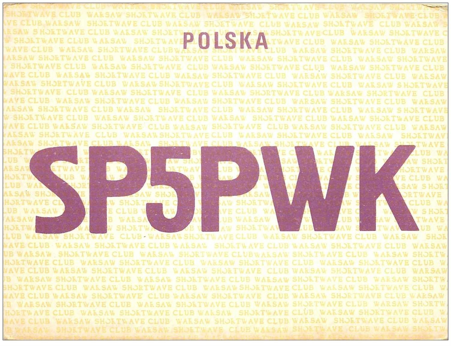 carte postale ancienne CARTE RADIO QSL. Poland 1973 POLSKA