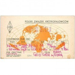 carte postale ancienne CARTE RADIO QSL. Polski 1972