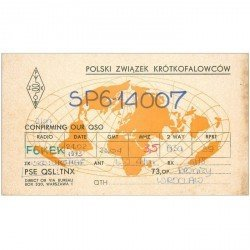 carte postale ancienne CARTE RADIO QSL. Polski 1973