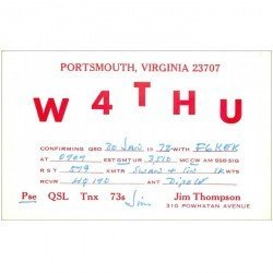 carte postale ancienne CARTE RADIO QSL. Portsmouth 1972