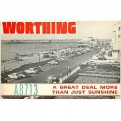 carte postale ancienne CARTE RADIO QSL. Sunny Worthing 1977