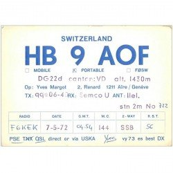 carte postale ancienne CARTE RADIO QSL. Switzerland 1972