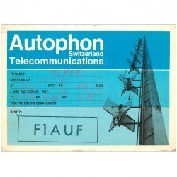 carte postale ancienne CARTE RADIO QSL. Switzerland 1972 Autophon