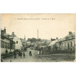 carte postale ancienne 02 PROISY. Avenue de la Gare. Canton de Guise