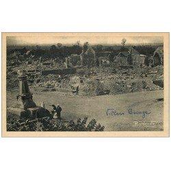 carte postale ancienne 14 VILLERS-BOCAGE. Bataile de normandie de 1944 Hôtel de Ville et Monument