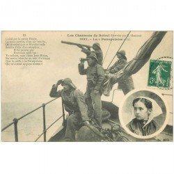 carte postale ancienne FOLKLORE. Campagnes et Provinces. Marins Pêcheurs la Paimpolaise 1908