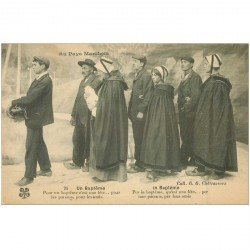 carte postale ancienne FOLKLORE. Campagnes et Provinces. Un Baptême au Pays Marchois