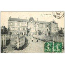 carte postale ancienne 14 VILLERS-BOCAGE. Ecole des Garçons 1919