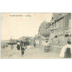 carte postale ancienne 14 VILLERS-SUR-MER. 1907 la Digue