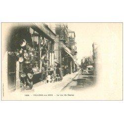 carte postale ancienne 14 VILLERS-SUR-MER. Antiquités Rue du Casino vers 1900