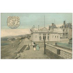 carte postale ancienne 14 VILLERS-SUR-MER. Digue et Casino 1907. Verso vierge