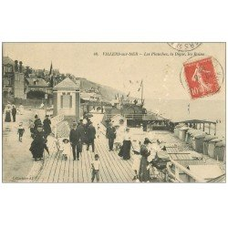 carte postale ancienne 14 VILLERS-SUR-MER. Digue et Planches 1914
