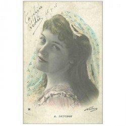 carte postale ancienne NADAR. Comédienne Spectacle et Thétre. Detchon 1905