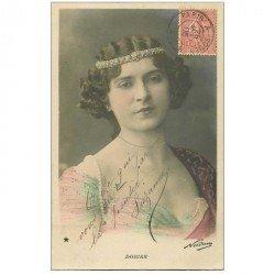 carte postale ancienne NADAR. Comédienne Spectacle et Thétre. Dorian 1905