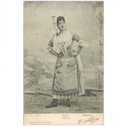 carte postale ancienne NADAR. Comédienne Spectacle et Thétre. Torri de l'Opéra 1905