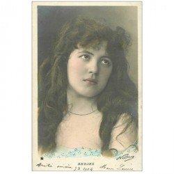 carte postale ancienne NADAR. Spectacle et Thétre. Bedjez 1904