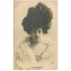 carte postale ancienne REUTLINGER. Comédienne Spectacle et Thétre. Labounskaya 1903