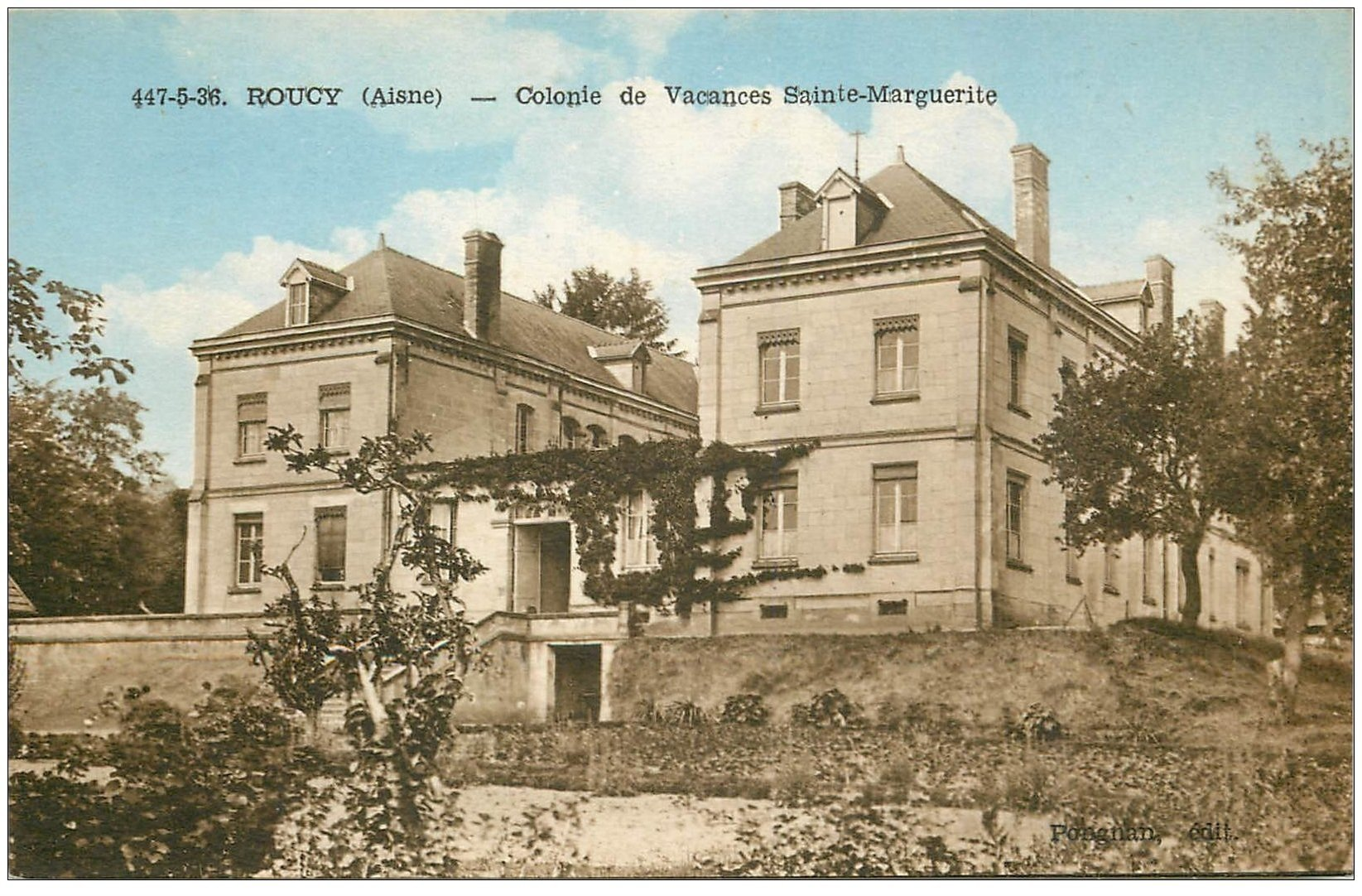 carte postale ancienne 02 ROUCY. Colonie de Vacances Sainte-Marguerite