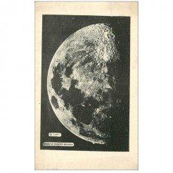carte postale ancienne ASTRONOMIE. La Lune après le premier quartier. Explication au verso...