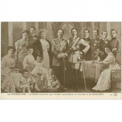 carte postale ancienne Famille Royale. Les Hohenzollern