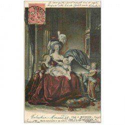 carte postale ancienne Famille Royale. Marie Antoinette et ses Enfants 1907