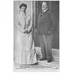 carte postale ancienne FAMILLES ROYALES. Dom Carlos et la Reine Amélie