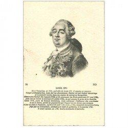 carte postale ancienne FAMILLES ROYALES. Louis XVI. Papier velin bords dentelés à la ficelle