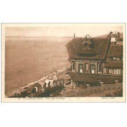 carte postale ancienne 14 VILLERS-SUR-MER. La Plage 1927