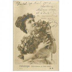 carte postale ancienne FEMMES. Héliotrope 1904