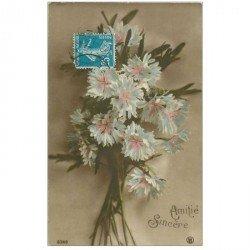 carte postale ancienne FLEURS. Bouquet de Marguerites pour Mende 1921