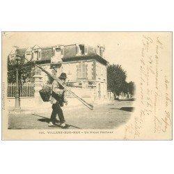 carte postale ancienne 14 VILLERS-SUR-MER. Vieux Pêcheurs de Crevettes et Poissons 1902