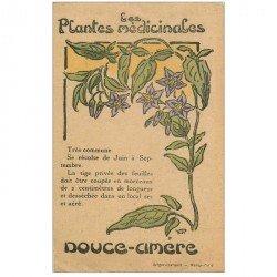 carte postale ancienne FLEURS. Plantes médicinales. Douce Amère