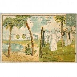 carte postale ancienne HUMOUR. Beaucoup de Lingerie au temps d'Eva et aujourd'hui 1919. Coins plissés