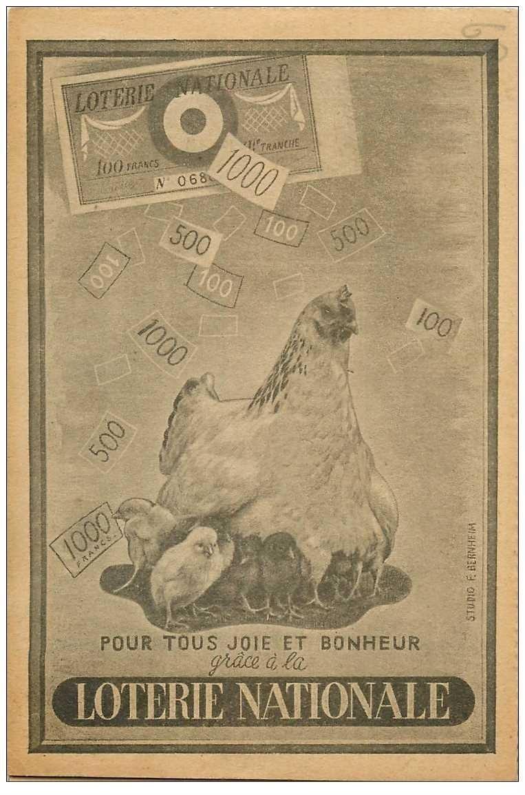 carte postale ancienne loterie