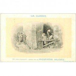 carte postale ancienne Jeu d'Enfants de la Guerre. Phosphates Falières