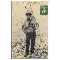 carte postale ancienne 14 VILLERVILLE. Dorange Pêcheurs de Crevettes 1911. Métiers de la Mer
