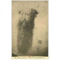 carte postale ancienne Biblothèque Clouet. Duc d'ALBANY