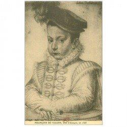 carte postale ancienne Biblothèque Clouet. FRANCOIS DE VALOIS Duc d'Alençon