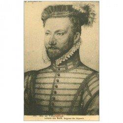 carte postale ancienne Biblothèque Clouet. Louis du BOIS Seigneur des Arpentis
