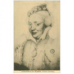 carte postale ancienne Biblothèque Clouet. Marguerite de La MARE Comtesse d'Arenberg