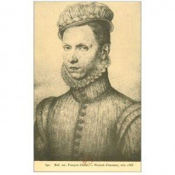 carte postale ancienne Biblothèque Clouet. Portrait d'Inconnu vers 1565