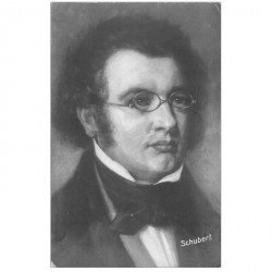 carte postale ancienne CELEBRITES. Compositeur Schubert 1905