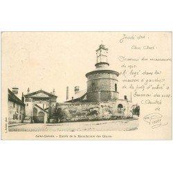 carte postale ancienne 02 SAINT-GOBAIN. Manufacture de Glaces 1903
